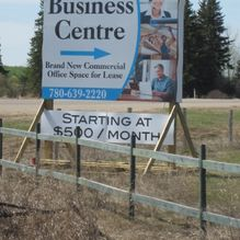 RLM Business Centre sign